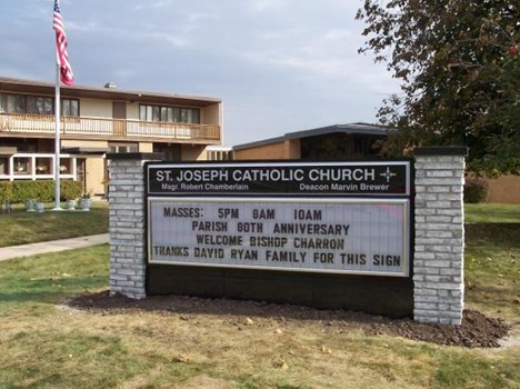 CLS002 - Custom Changeable Letter Sign for Religious Organizations